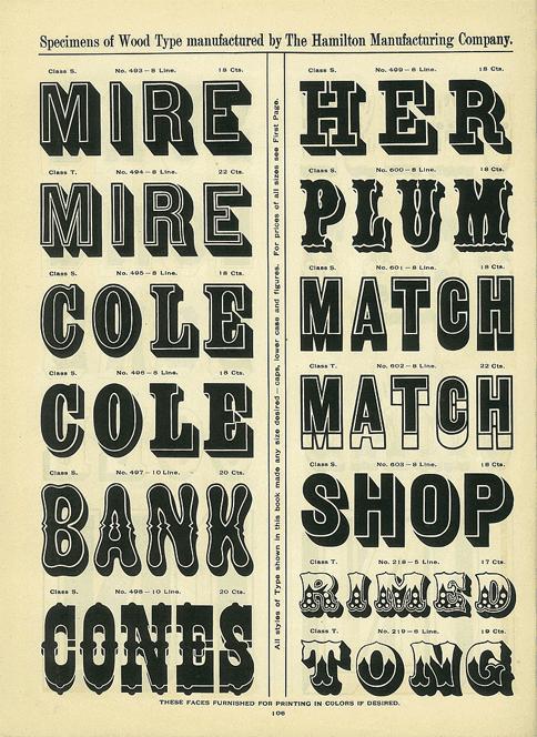 wood type poster characteristics 2