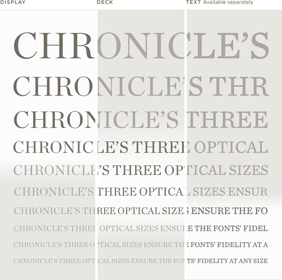 Chronicle Display, Deck, and Text: Waterfall