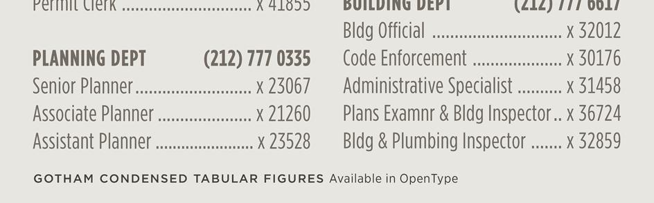 Gotham Condensed: Duplexing