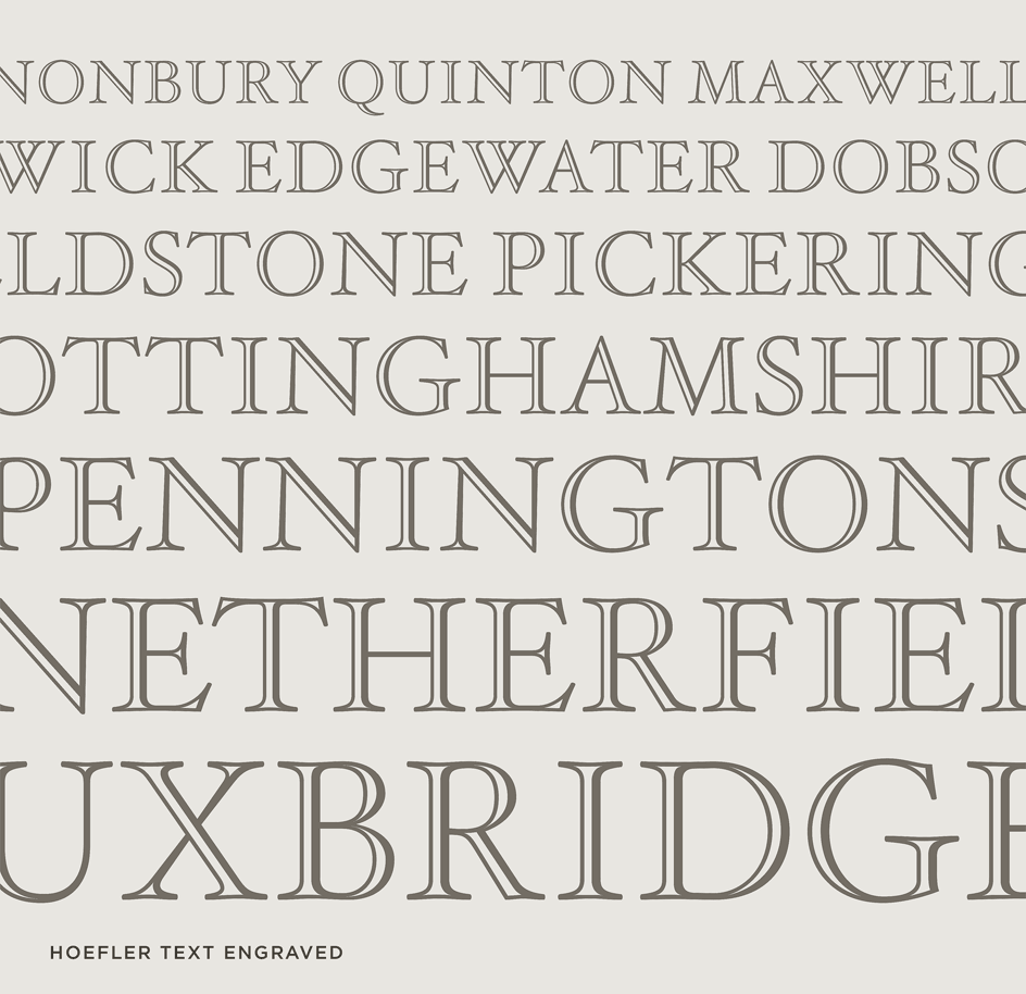 Hoefler Text Engraved