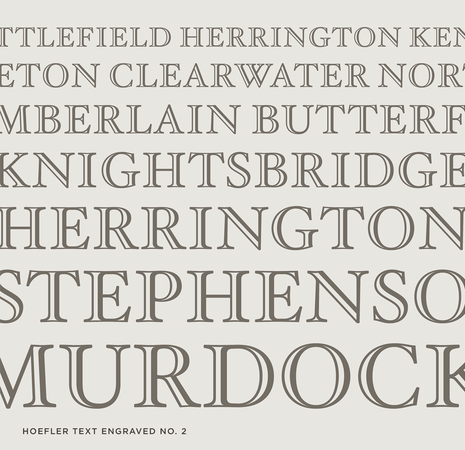 Hoefler Text Engraved No. 2