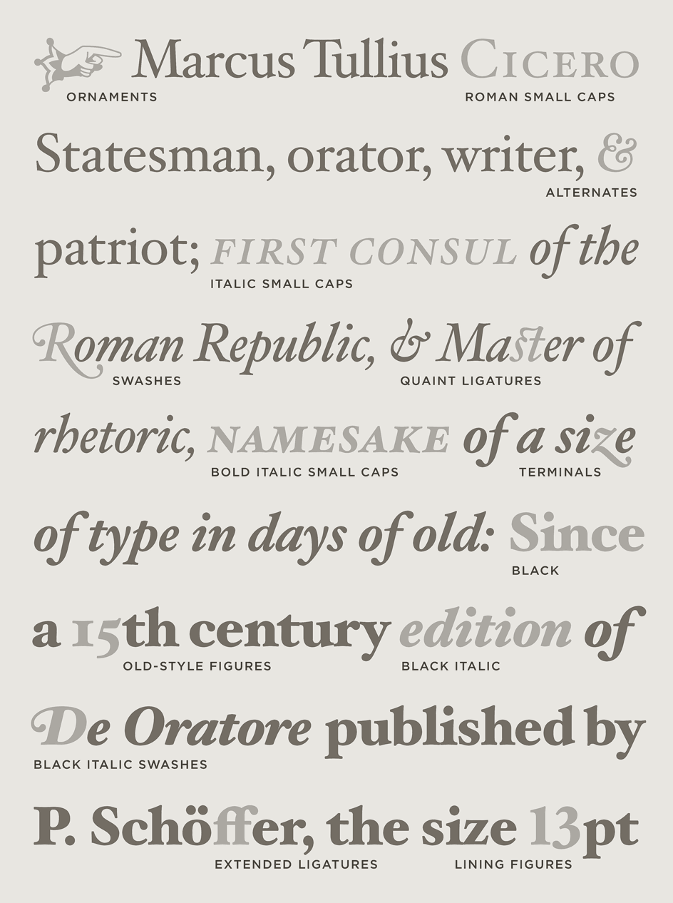 Hoefler Text Variations
