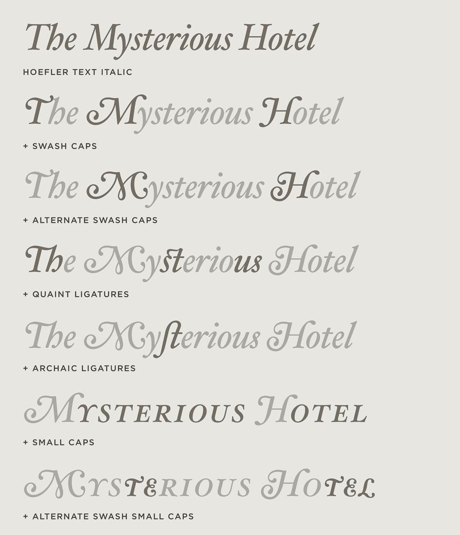 Hoefler text font features grand italics hoefler co hoefler text italic variations biocorpaavc