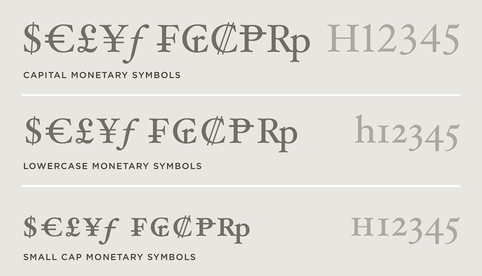 Hoefler Text Font Features Special Characters Hoefler Co