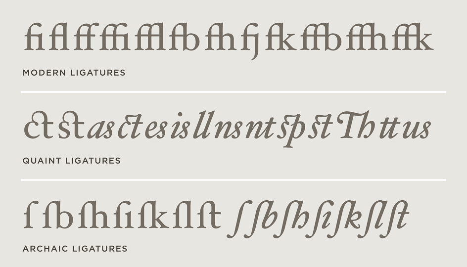 Hoefler Text Ligatures