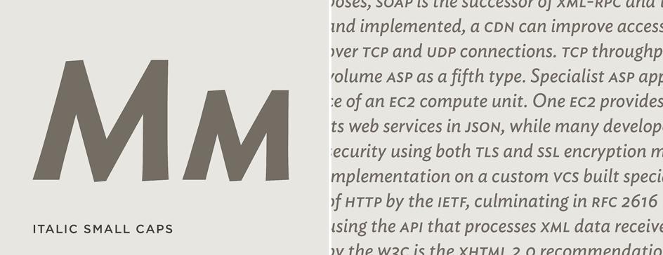 Ideal Sans: Italic Small Caps
