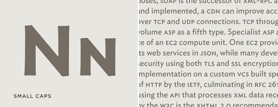 Ideal Sans: Small Caps