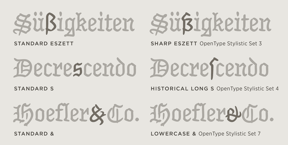 Inkwell: Blackletter Alternate Forms