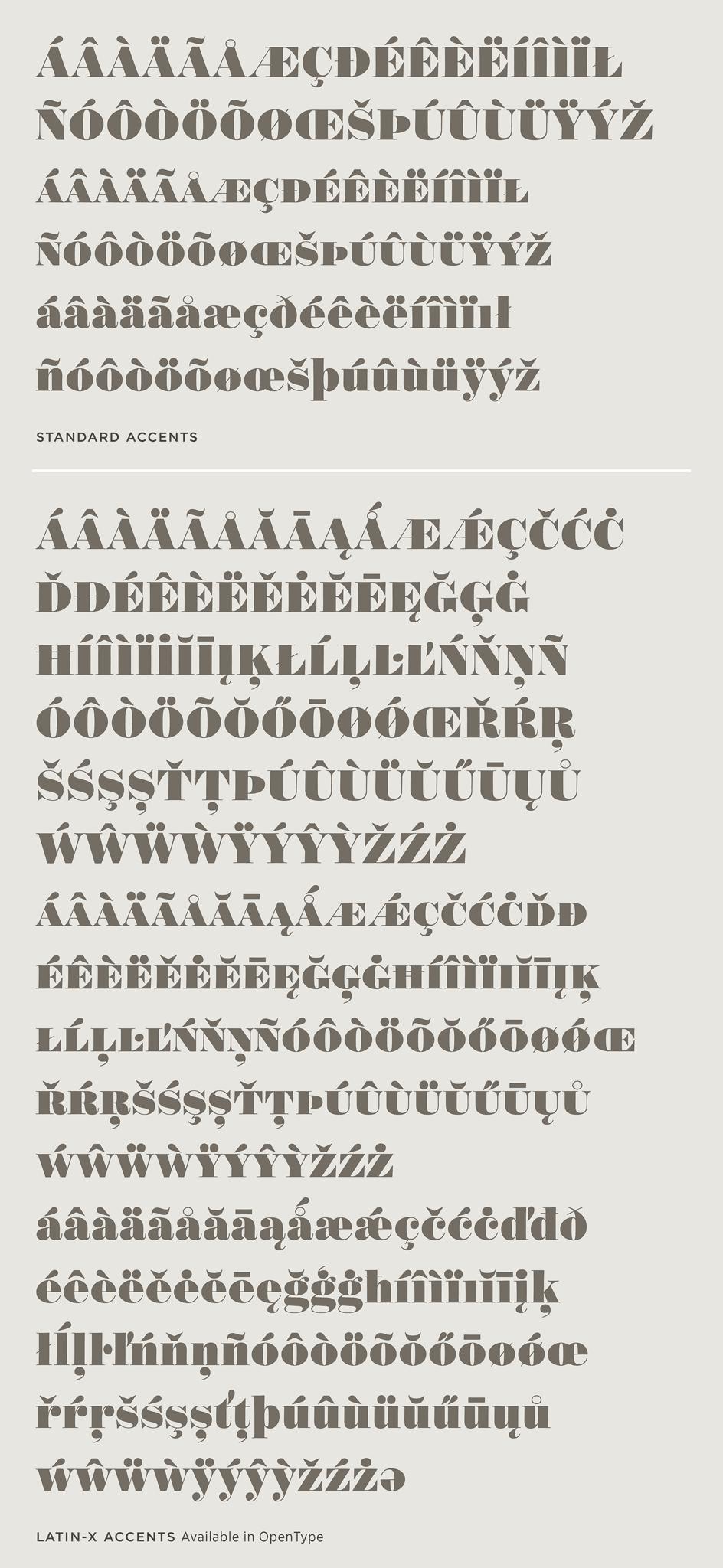Obsidian: Latin-X Character Set