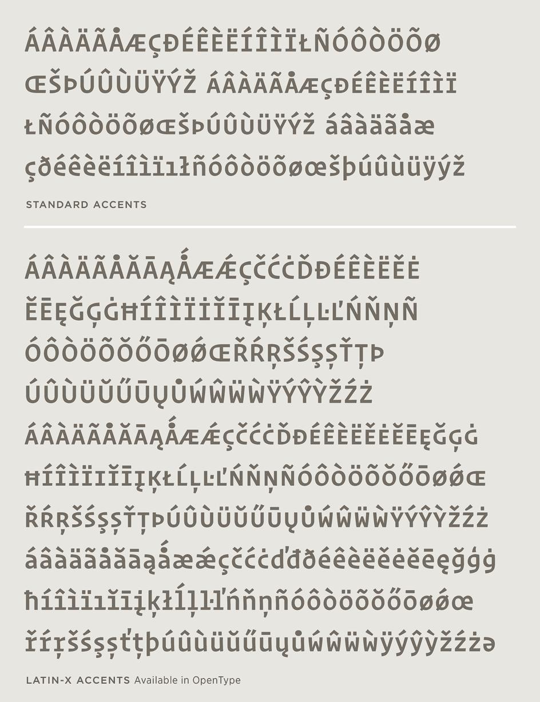 Operator: Latin-X Character Set