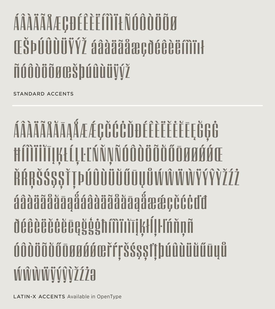 Peristyle: Latin-X Character Set
