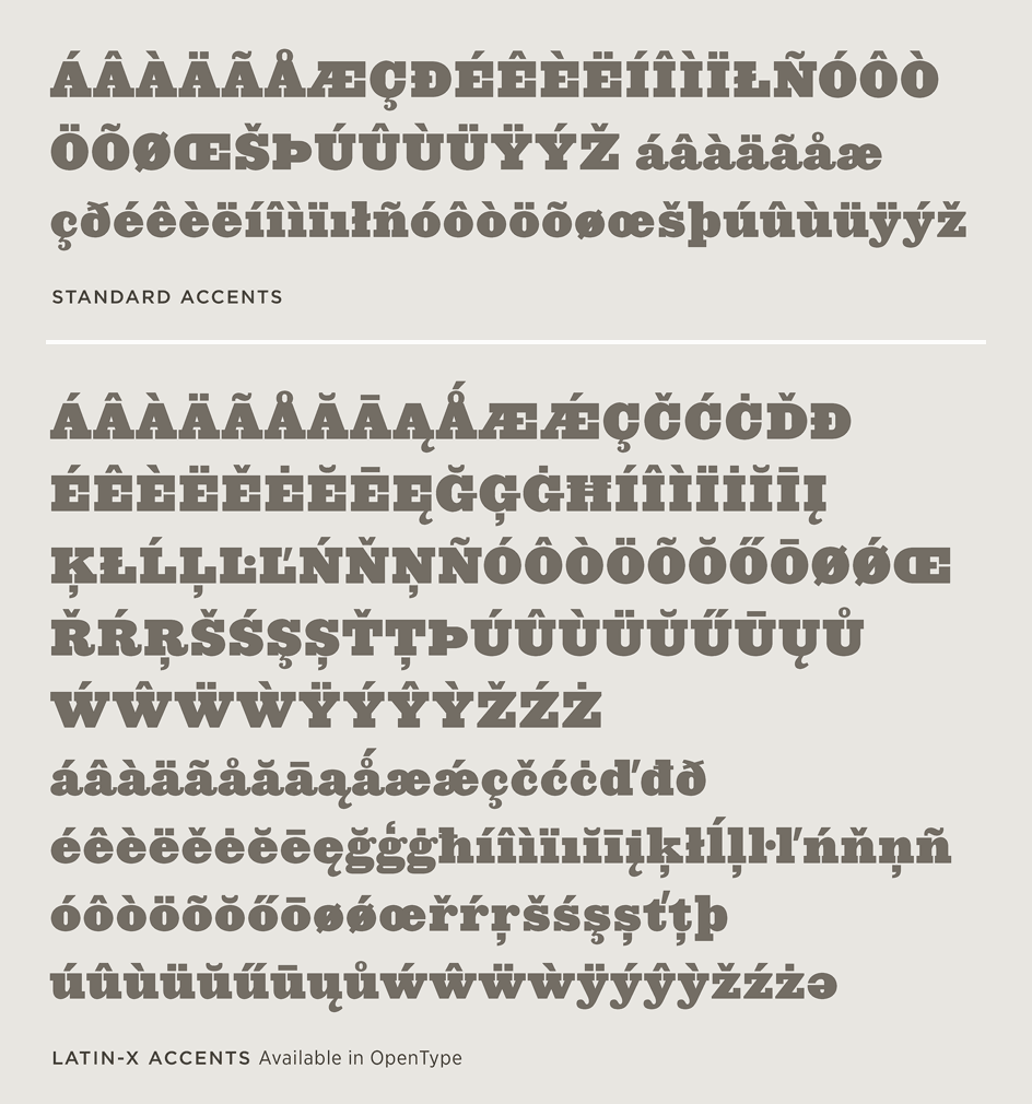 The Proteus Project: Latin-X Character Set