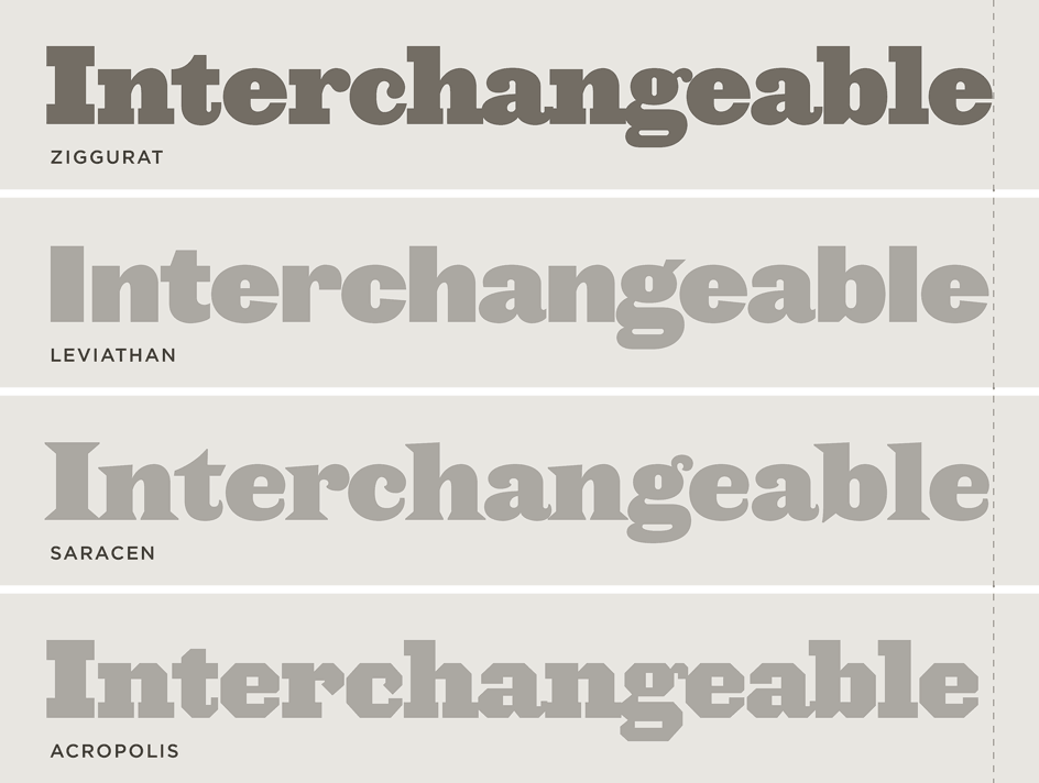 The Proteus Project: Interchangeable widths