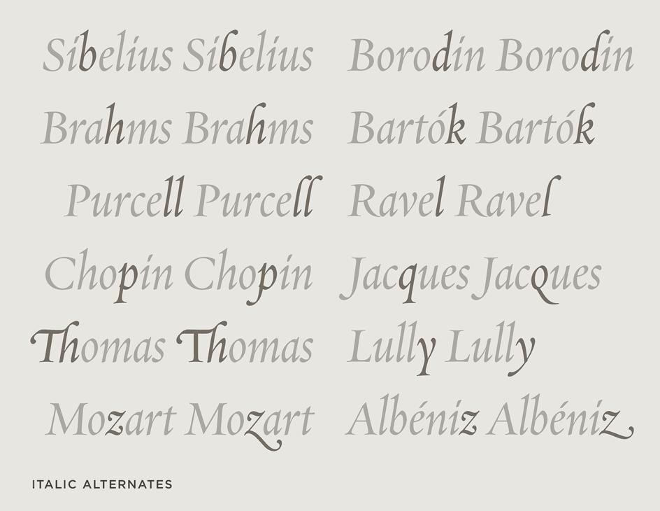 Requiem Italic Alternates