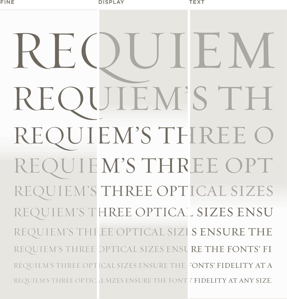 Requiem Fine, Display, and Text: Waterfall