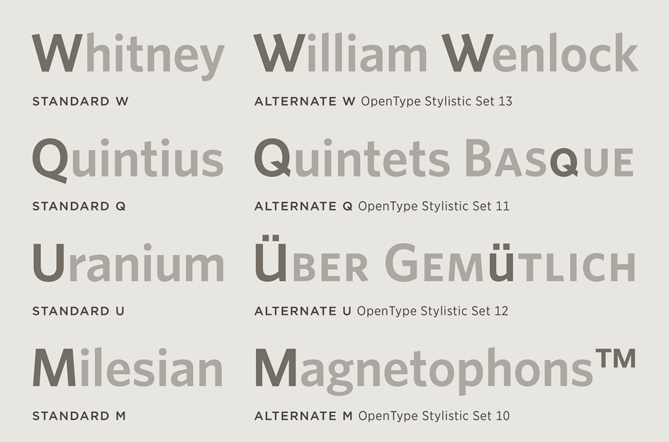 Whitney: Alternates