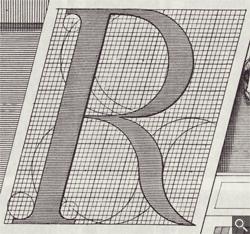 Romain du Roi italic R diagram
