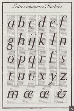 Romain du Roi italic lowercase