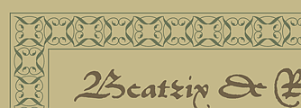 Historicals with Hoefler Text Arabesques
